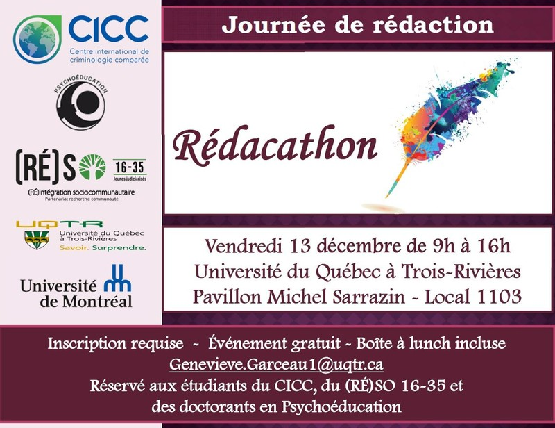 Rédacathon Centre International De Criminologie Comparée
